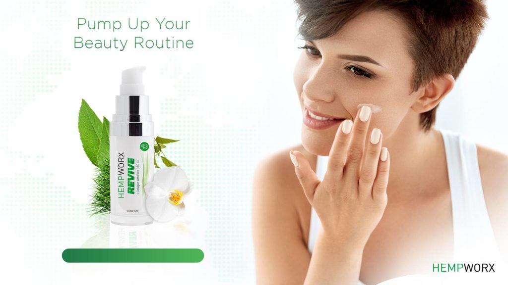 Hempworx Revive restorative night cream with CBD