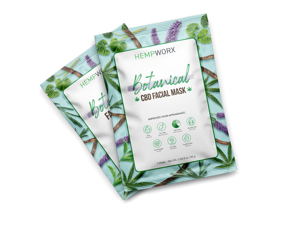Hempworx botanical CBD facial mask