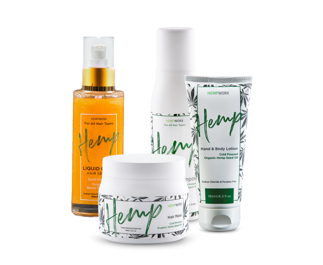 hempworx hair care and body lotion