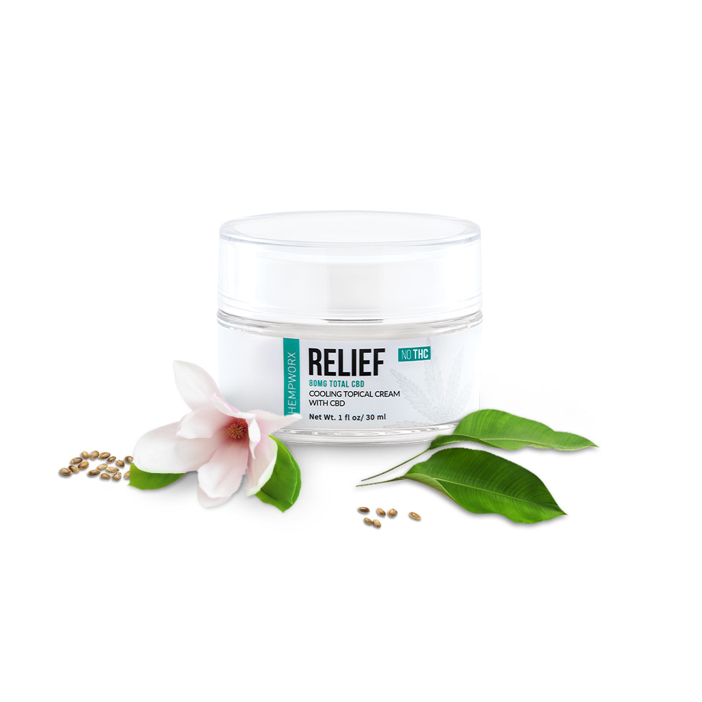 Hempworx Relief Cooling Topical Cream with CBD